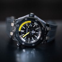 Audemars Piguet Carbone Remontage automatique Noir Sans chiffres 42mm occasion Royal Oak Offshore Diver
