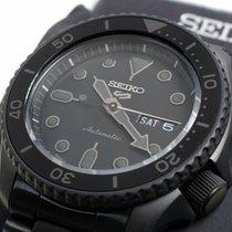 Seiko 5 Sports Acier 43mm Noir