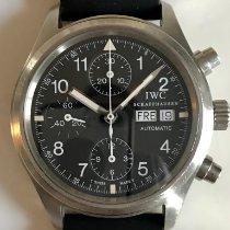 IWC Pilot Chronograph Staal 39mm Zwart Arabisch Nederland, Naarden-Vesting