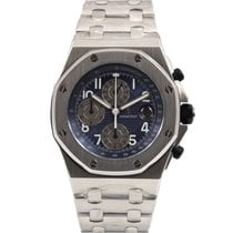 Audemars Piguet Royal Oak Offshore Chronograph Ατσάλι 42mm Μπλέ Αραβικοί