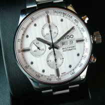 Mido Multifort Chronograph Steel 44mm White No numerals