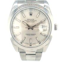 Rolex Datejust Ocel 41mm Stříbrná Bez čísel