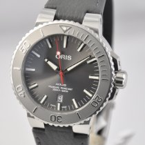 Oris Aquis Date Steel 43.5mm Grey No numerals