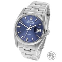 Rolex Air King Date Staal 34mm Blauw