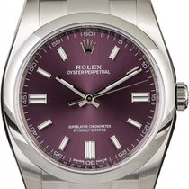 Rolex Oyster Perpetual 36 pre-owned 36mm Purple Steel