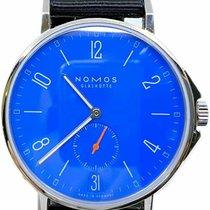 NOMOS Ahoi Datum pre-owned 40.3mm Blue Date Textile