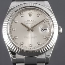 Rolex Datejust II Acier 41mm Argent Sans chiffres