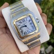 Cartier Santos Galbée Gold/Steel 32mm White Roman numerals