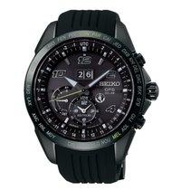 精工 Astron GPS Solar Chronograph 鋼 45.5mm 黑色 阿拉伯數字