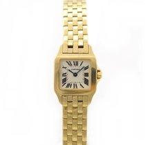 Cartier Santos Demoiselle Желтое золото Белый