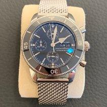 Breitling Superocean Héritage II Chronographe Stahl 44mm Schwarz Keine Ziffern