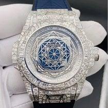 Hublot Белое золото Автоподзавод Синий Без цифр 45mm новые Big Bang Unico