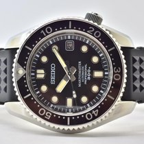Seiko Marinemaster Steel 43mm Black No numerals
