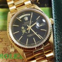 Rolex Day-Date 36 Zuto zlato 36mm Crn Bez brojeva