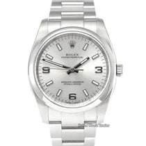 Rolex Oyster Perpetual 34 Steel 34mm Silver Arabic numerals United Kingdom, Manchester