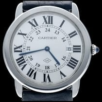 Cartier Ronde Solo de Cartier Acier 36mm Argent Romains
