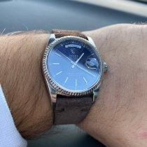 Rolex Oro blanco Automático Azul usados Day-Date 36