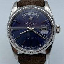 Rolex Or blanc Remontage automatique Bleu occasion Day-Date 36