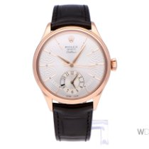 Rolex Cellini Dual Time Roségold 39mm Silber Keine Ziffern