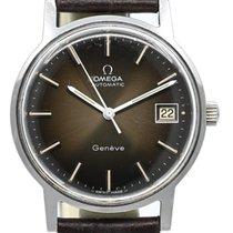 Omega Genève Steel 34mm Brown