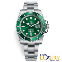 Rolex Submariner Date Сталь Зеленый