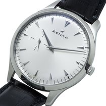 Zenith Steel Automatic Silver 40mm pre-owned Elite Ultra Thin
