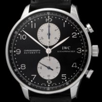 IWC Portuguese Chronograph Acero 41mm Negro Arábigos