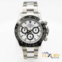 Rolex Daytona Rolex Daytona 40mm 116520 Stainless Steel Case Aftermarket White Dial & Black Bezel Watch pre-owned