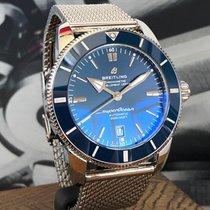 Breitling Superocean Héritage II 46 Acier 46mm Bleu Sans chiffres
