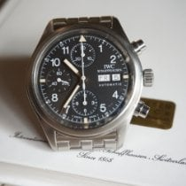 IWC Pilot Chronograph pre-owned 39mm Black Chronograph Date Weekday Steel