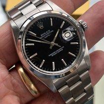 Rolex Datejust Acier 34mm Noir