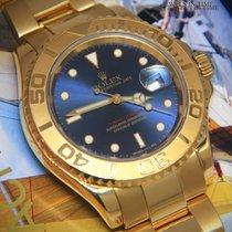 Rolex Gelbgold Automatik Blau 40mm gebraucht Yacht-Master 40