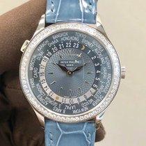 Patek Philippe World Time nuevo Automático Reloj con estuche y documentos originales 7130G-014