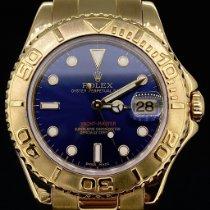 Rolex Yacht-Master Or jaune 35mm Bleu Sans chiffres Belgique, Antwerpen