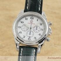 Omega De Ville occasion 41mm Blanc Chronographe Date Cuir de crocodile