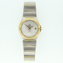 Omega Constellation Ladies Gold/Steel 35mm Silver No numerals United Kingdom, Leicester