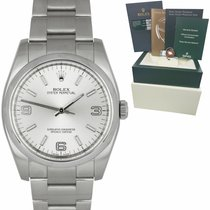 Rolex Oyster Perpetual 36 Steel 36mm Silver Arabic numerals United States of America, New York, Massapequa Park