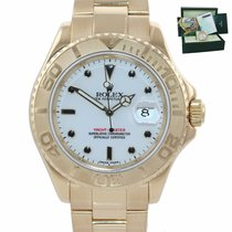 Rolex Yellow gold Automatic White 40mm pre-owned Yacht-Master 40