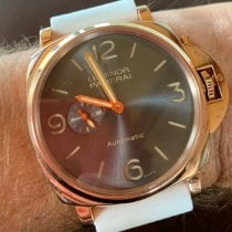 Panerai Red gold Automatic Black Arabic numerals 45mm pre-owned Luminor Due