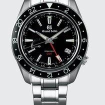 Seiko Grand Seiko Steel 44mm Black No numerals