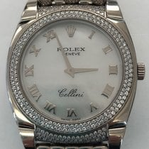 Rolex Cellini White gold 32mm Mother of pearl Roman numerals