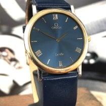 Omega De Ville gebraucht 32,4mm Blau Leder