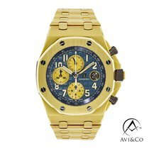 Audemars Piguet Royal Oak Offshore Chronograph Gelbgold 42mm Blau Arabisch