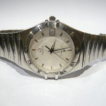 Omega Constellation pre-owned White Date Steel