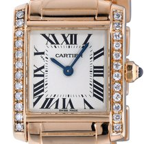 Cartier Tank Française Yellow gold 20mm Silver Roman numerals United States of America, New York, NEW YORK CITY