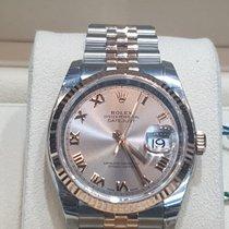 Rolex Or rose Remontage automatique Gris 36mm nouveau Datejust