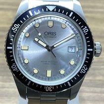 Oris Divers Sixty Five Zeljezo 42mm Srebro Bez brojeva