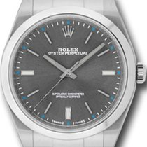 Rolex Oyster Perpetual 39 pre-owned 39mm Silver Steel