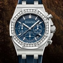 Audemars Piguet Royal Oak Offshore Lady Steel 37mm Blue No numerals United States of America, New York, Brooklyn