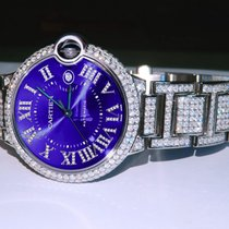 Cartier Ballon Bleu 42mm Acier 42mm Argent Romains